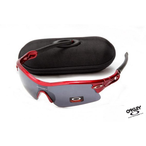 b3f094a57f Foakleys fake Oakley Radar Path Sunglasses Red   Grey Iridium ...