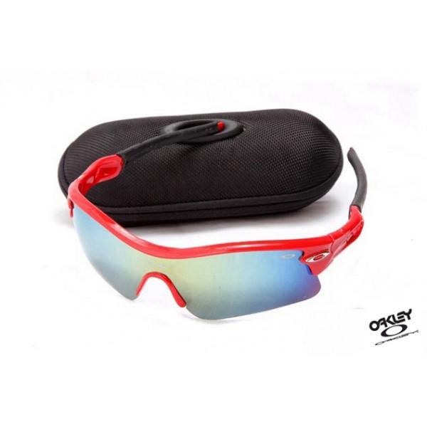 3446beb59ae Foakleys Radar Path Sunglasses Red   Ice Iridium Fake oakleys Sale ...