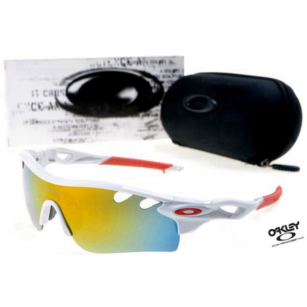 a25d7611a6 Foakleys RadarLock Path Sunglasses White   Fire Iridium fake Oakley ...