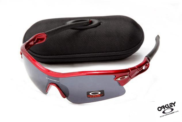 28d6549a53 Foakleys fake Oakley Radar Path Sunglasses Red   Grey Iridium -  sunknockoff.com